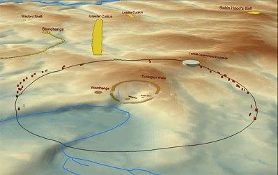 Lageplan des Schachtgruben-Kreis von Durrington Copyright: University of Rochester