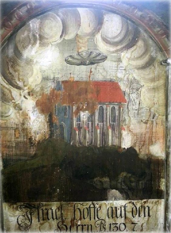 z UFO depicted in an old painting in Rumania. The Sighisoara wall painting.jpg