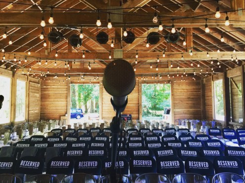 soundcheck, Pitchfork Social, Salt Spring Island, BC, Canada 11 July 2018 photo by Gretchen Peters