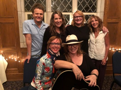 Emily Saliers Workshop Concert, Nashville, TN 13 August 2018 L to R David Mead, Jonatha Brooke, Beth Nielsen Chapman, Gretchen, Emily Saliers, Annie Roboff