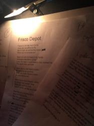 lyric sheet for Frisco Depot