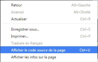afficher code source