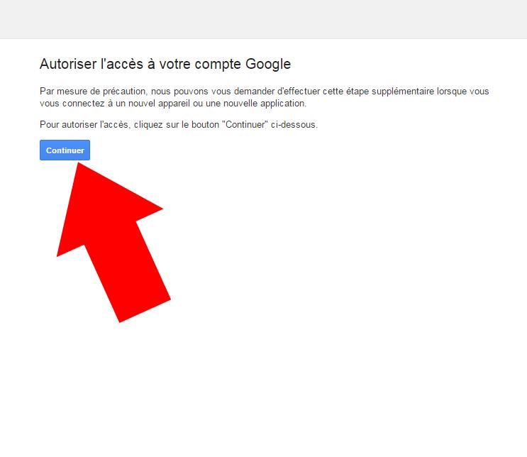 autorise compte gmail
