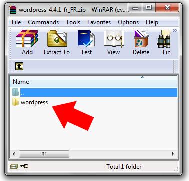 fichier wordpress