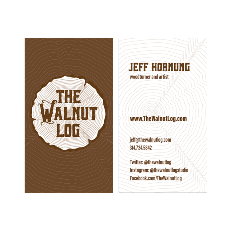 Walnut Log Business Cards