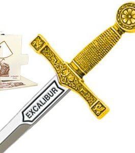 Miniature Excalibur Sword (Gold) by Marto of Toledo Spain