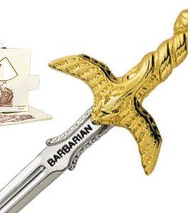 Miniature Barbarian Sword (Gold) by Marto of Toledo Spain