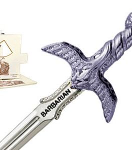 Miniature Barbarian Sword (Silver) by Marto of Toledo Spain