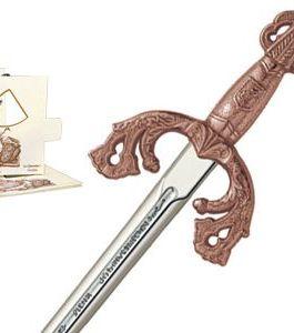 Miniature El Cid Campeador Tizona Sword (Bronze) by Marto of Toledo Spain