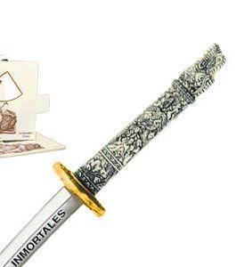 "Miniature ""Highlander"" Dragon Samurai Katana Sword (Gold) by Marto of Toledo Spain"