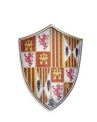 Miniature Catholic Kings Shield by Marto of Toledo Spain