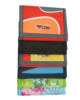 ASSORTED COLOR NYLON WALLETS