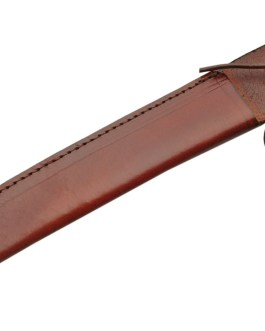 14″ LACE BROWN LEATHER SHEATH