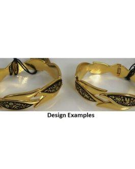 Damascene Gold Bird Bracelet by Midas of Toledo Spain style 2076