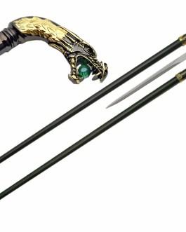 34″ DRAGON WALKING SWORD CANE