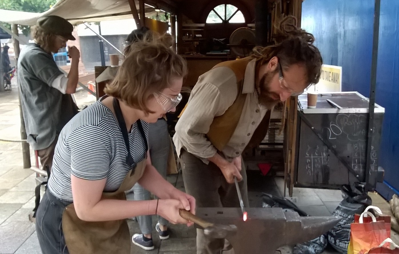 Blacksmithing at Leicester Greyfriars THI Open Streets