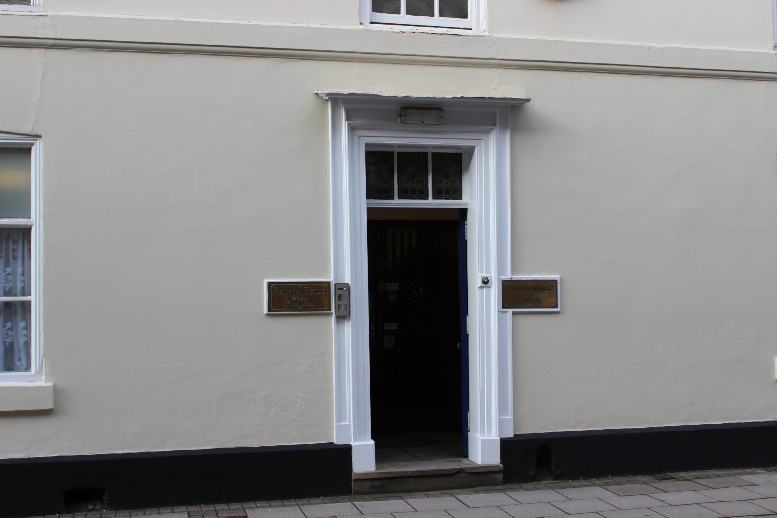 Rutland House before renovation - door detail