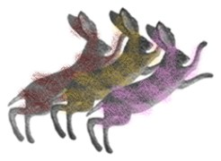 Festive hare pieces