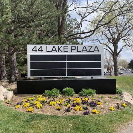 44 Lake Plaza sign