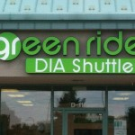 DIA shuttle channel letter sign