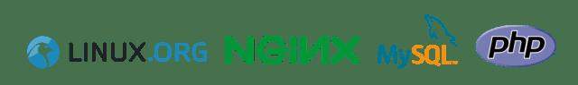 Linux, NGiNX, MySQL, php logos