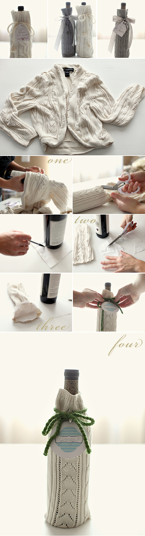 Wedding Blog DIY Wine Wrap