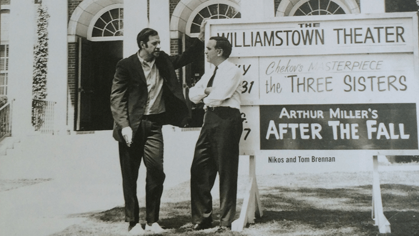 Tom Brennan and Nikos Psacharopoulos, 1960; photo courtesy Williamstown Theatre Festival