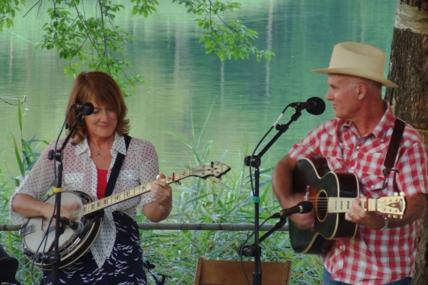 Paula Bradley and Bill Dillof are the husband and wife duo that make up Moonshine Holler; photo courtesy the artists.