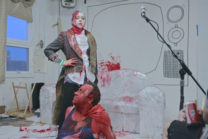 "The world premiere of ""Tarzana,"" by Radiohole, July 23; photo by Ilan Bachrach"