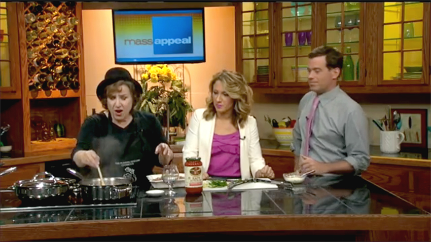 "Tinky Weisblat on <a href=""http://wwlp.com/2015/08/05/easy-sausage-and-peppers/"" target=""new"">massappeal on WWLP-22News</a> with Ashley Kohl and Seth Stutman"