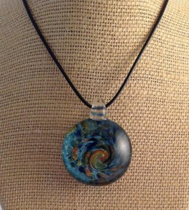 """Autumn Waters"" pendant, by Jill Reynolds"