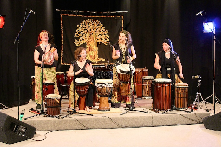 Aimée Gelinas, far right, is a member of Gaia Roots, a group that will be performing at the 6th Annual Drum and Dance Fest.