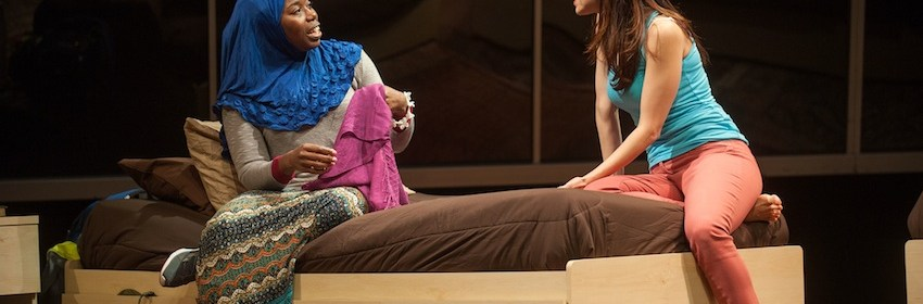 "Donnetta Lavinia Grays and Hend Ayoub in ""Veils"" at Barrington now through October 18; Photos by Kevin Sprague"