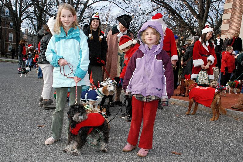"""Children participating in a past """"Reindog Parade"""" during the Holiday Walk festivities; photo courtesy The Massachusetts Office of Travel & Tourism"""