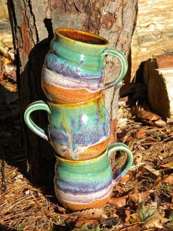 Multicolored Mugs, by Amrita Lash; photo submitted by the artist.