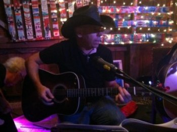 Local Roots musician Jeb Barry at a recent Songcircle; photo courtesy Williamstown Songcircle via Facebook.