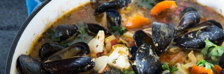 Bourride with Homemade Garlic Aioli—Fresh Fish, page 38. (photo/Joseph Keller)