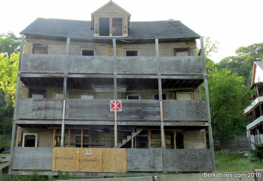 The Cliff Street house is representative of the fate of much of North Adams' housing overstock (photo, iBerkshires.com).