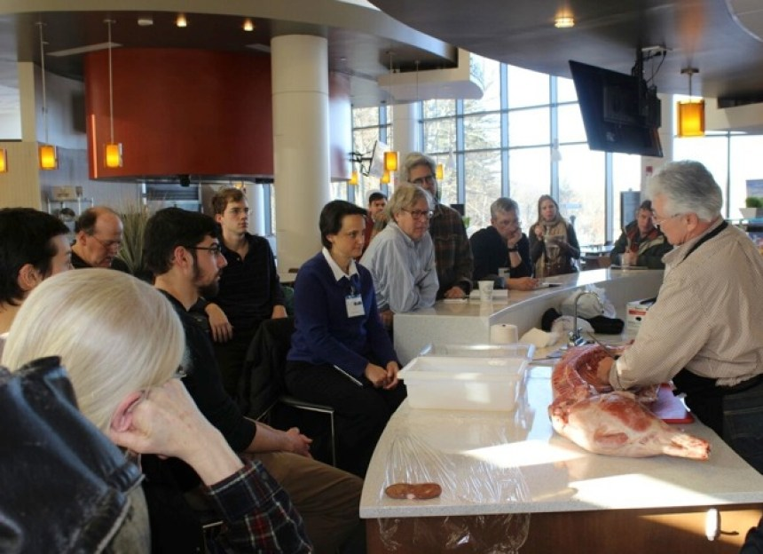 Charcuterie techniques demonstrated during a 2015 NOFA/Mass Winter Conference session (submitted photo).