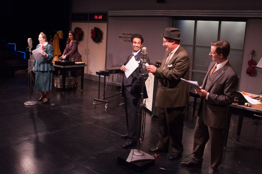 The cast of It's a Wonderful LIfe — Jennie M. Jadow, Sarah Taylor, David Joseph, Jonathan Croy and Ryan Winkles (photo by Enrico Spada).