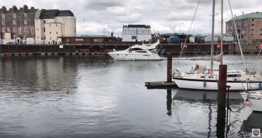 Peter Lythgoe's walking video tours of Weymouth bring you breathtakingly close to one adorable town! video capture courtesy Peter Lythgoe, via YouTube.