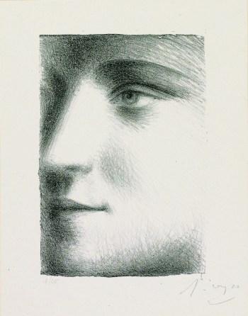 Visage (Face of Marie-Thérèse), 1928. Lithograph on chine collé; image courtesy The Clark Art Institute.