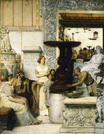 The Sculpture Gallery, Sir Lawrence Alma-Tadema, 1875. Oil on panel; Memorial Art Gallery of the University of Rochester; image courtesy the Clark Art Institute.