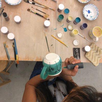 Amrita Lash imbues a newborn mug with character; image courtesty Stephanie Boyd.