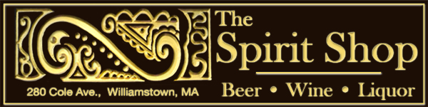 Advertisement for The Spirit Shop, Williamstown, Massachusetts
