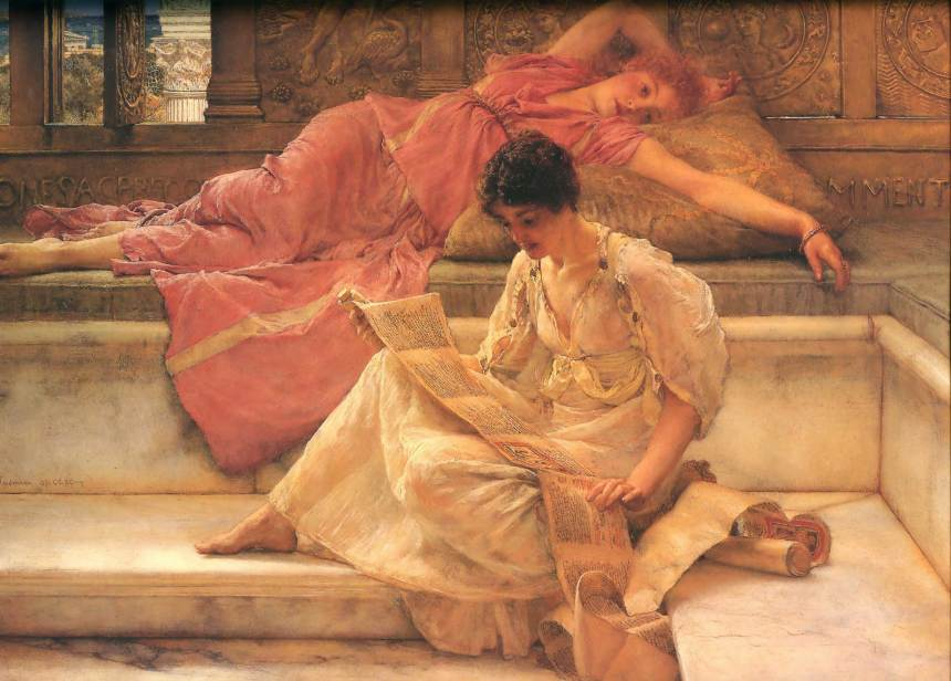 """The Favourite Poet,"" Oil on canvas, 1888, Sir Lawrence Alma-Tadema (1836-1912)"
