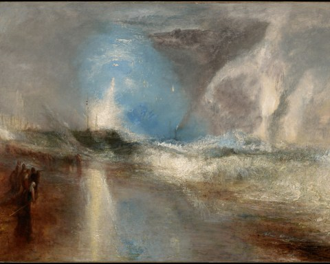 """Rockets And Blue Lights (Close At Hand) To Warn Steamboats Of Shoal Water,"" Joseph Mallord William Turner, English, 1775–1851; 1840, Oil on canvas; Acquired by Sterling and Francine Clark, 1932"