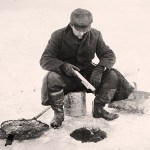 Ice fishing, circa 1910.