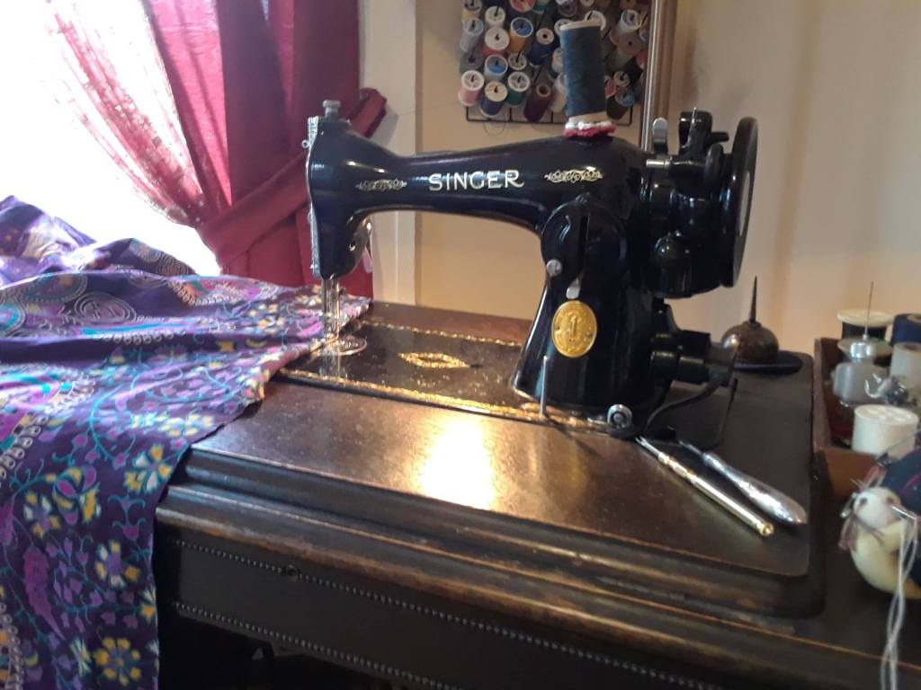While the perception of the local seamstress may seem like a quaint remnant out of time, Bell Bottom Bleus is earning international fans and customers through its Etsy shop; photo by Cassie Lord.