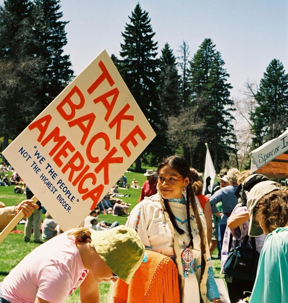 Rally in Bozeman, Montana; photo by Sheila Velazquez